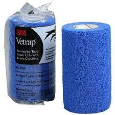 3M™ Vetrap™ Blue Bandaging Tape 4 in x 5 yd