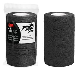 3M™ Vetrap™ Black Bandaging Tape 4 in x 5 yd