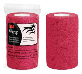 3M™ Vetrap™ Red Bandaging Tape 4 in x 5 yd
