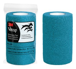 3M™ Vetrap™ Teal Bandaging Tape 4 in x 5 yd