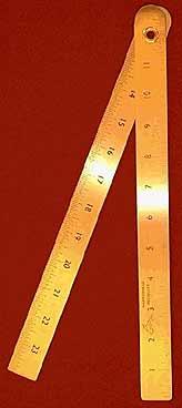 Brass Folding Rule