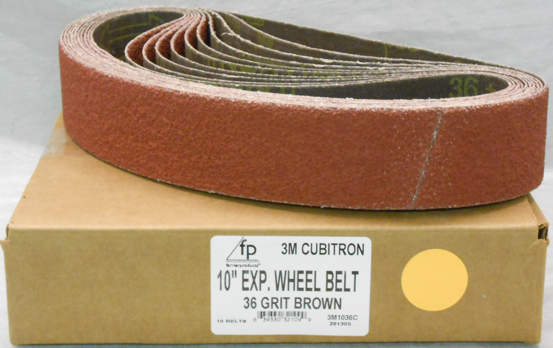 "FP 10"" Ex Wheel Belt 36 Grit Cubitron 3M - Box of 10"