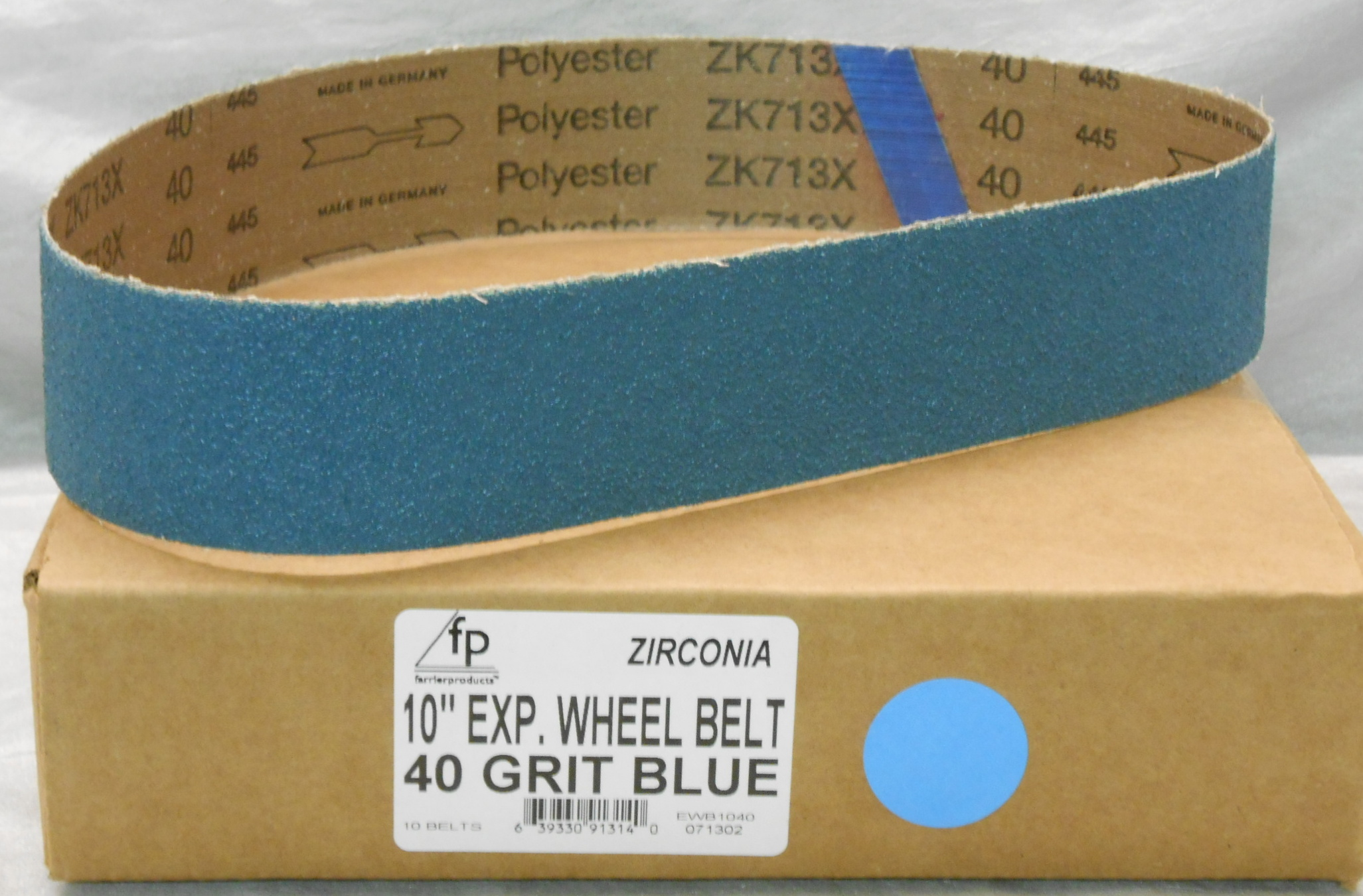 "FP 10"" Ex Wheel Belt 40 Grit Zirconia-Box of 10"